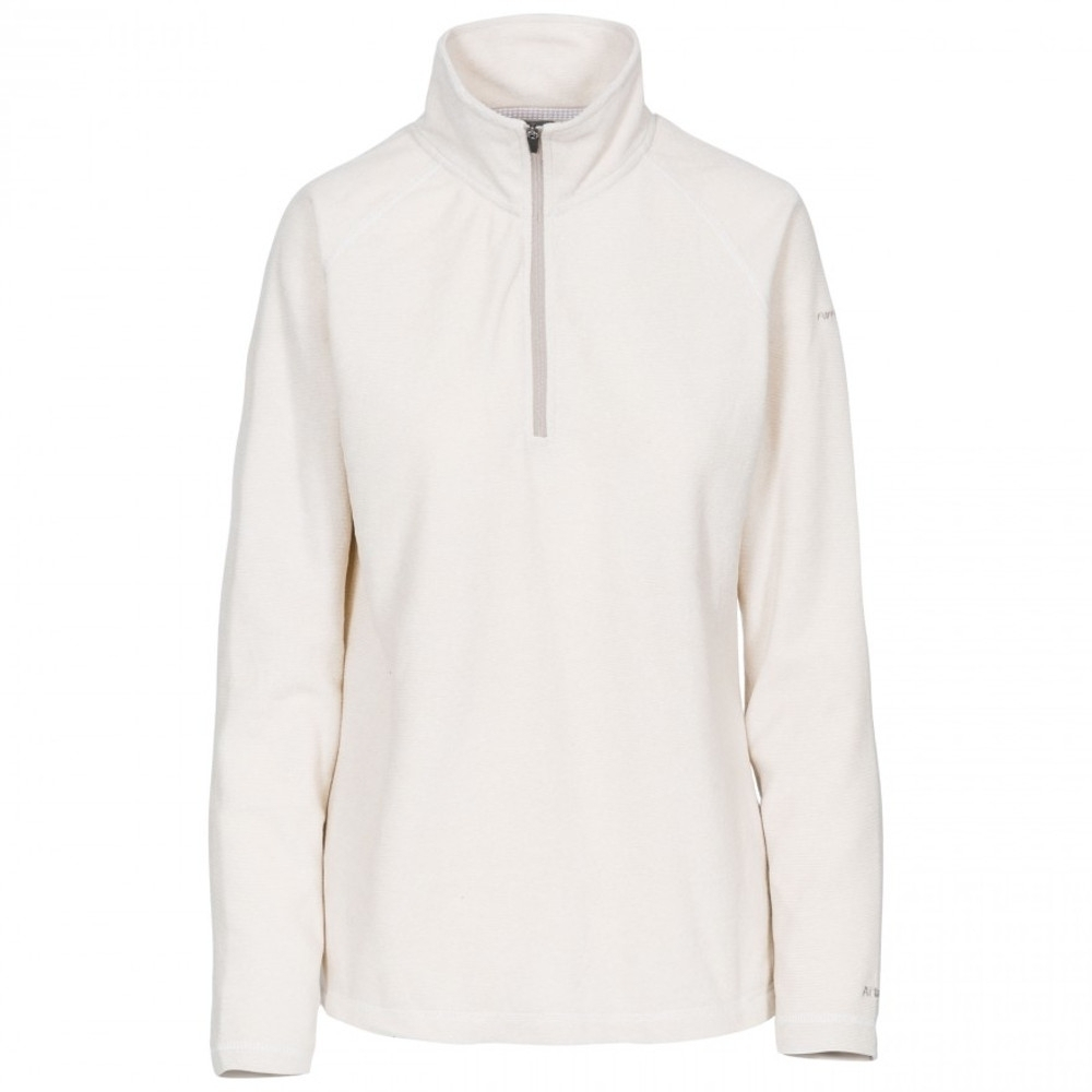 Trespass Womens Meadows At100 Half Zip Microfleece Jacket 10/s - Bust 34 (86cm)