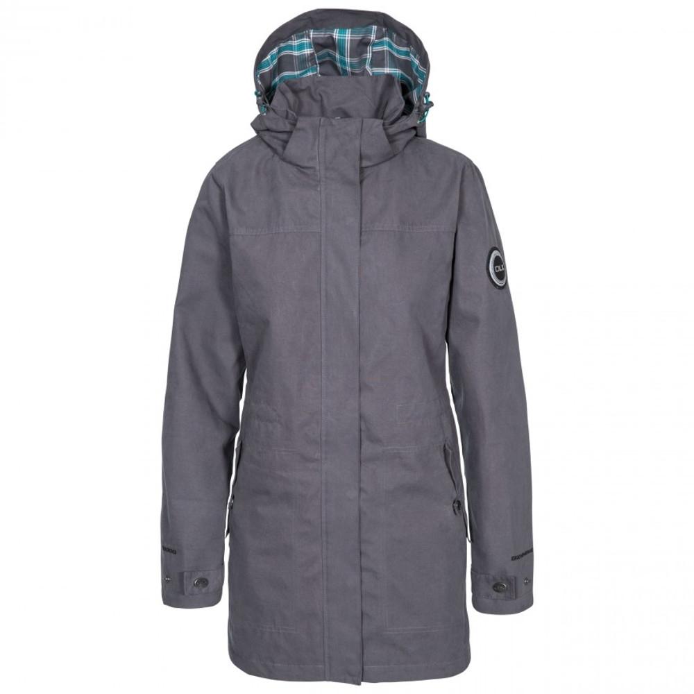 Trespass Womens Henriette Dlx Waterproof Hooded Walking Coat 10/s - Bust 34 (86cm)