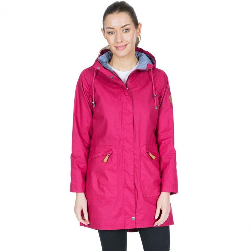 Trespass Womens Sprinkled Tp75 Waterproof Hooded Parka Coat 10/s - Bust 34 (86cm)
