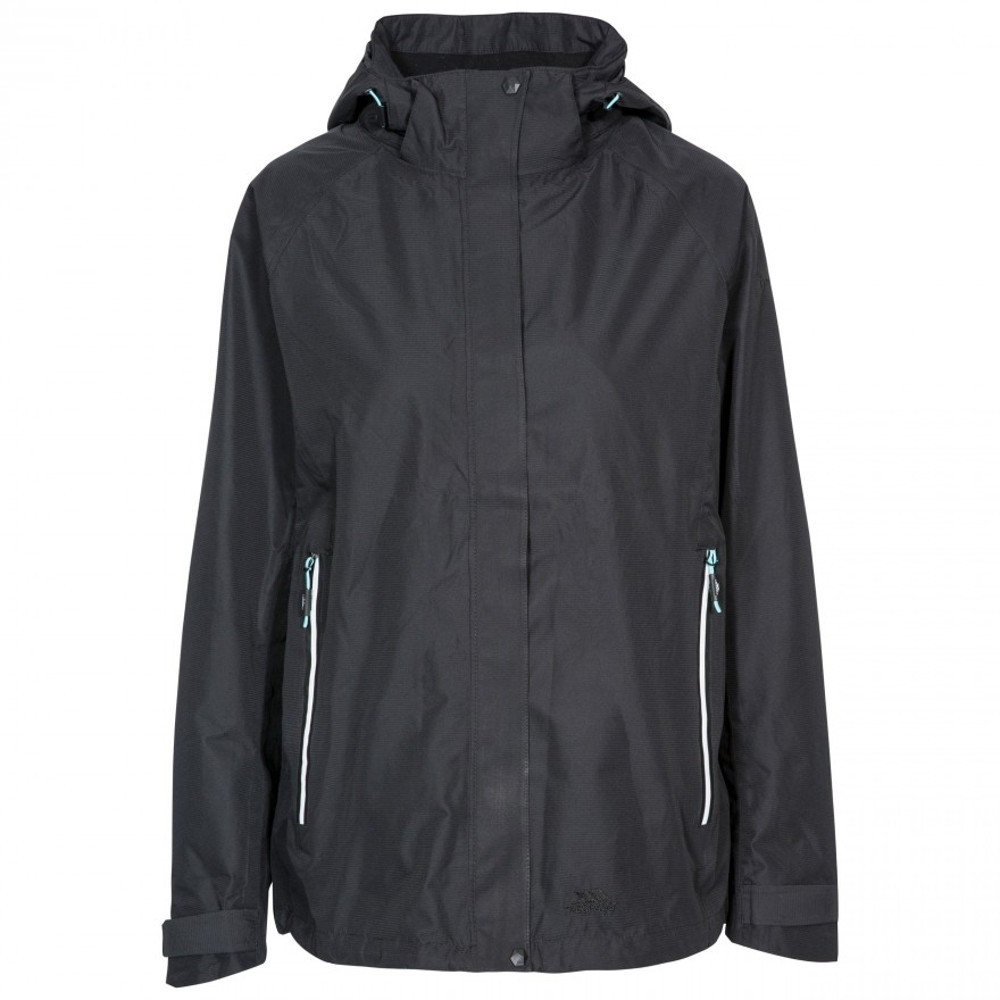 Trespass Womens Review Tp75 Tres-tex Waterproof Shell Jacket 10/s - Bust 34 (86cm)