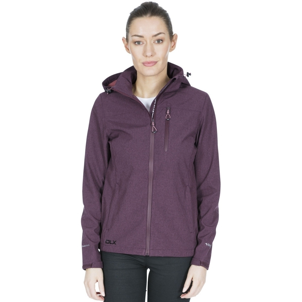 Trespass Womens Claren Ii Dlx Waterproof Softshell Jacket M- Uk 12  Bust 36 (91.4cm)