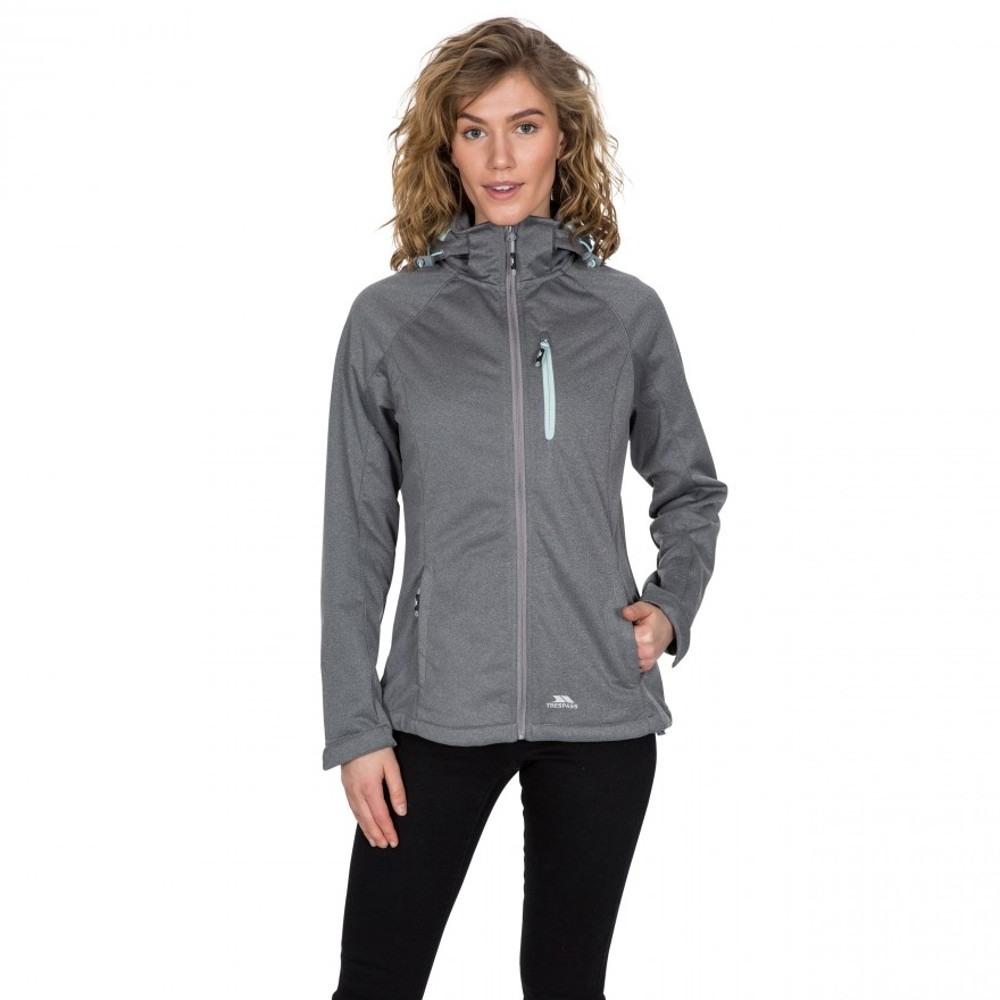 Trespass Womens Drea Tp75 Showerproof Softshell Jacket Coat 18/xxl - Bust 42 (106.5cm)