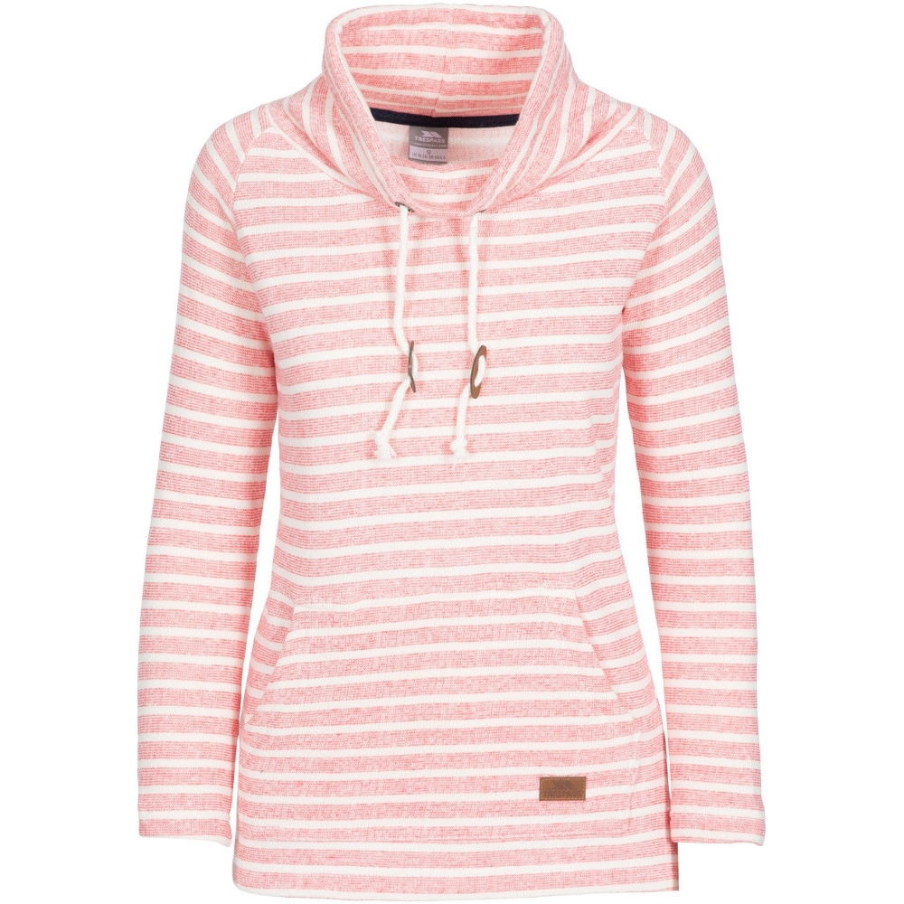 Trespass Womens Cheery Knitted Contrast Hooded Sweater 14/l - Bust 38 (96.5cm)