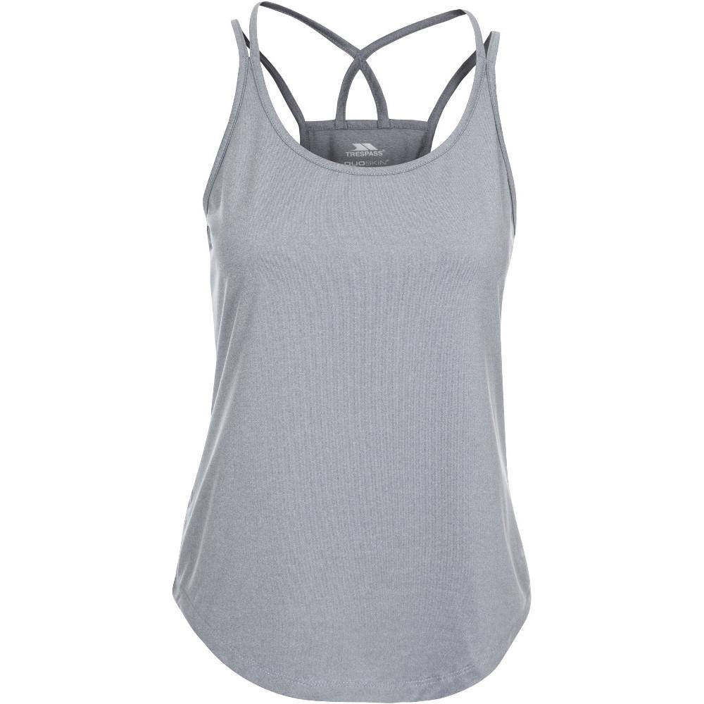 Trespass Womens Meghan Crossover Reflective Active Vest Top 8/xs - Bust 32 (81cm)