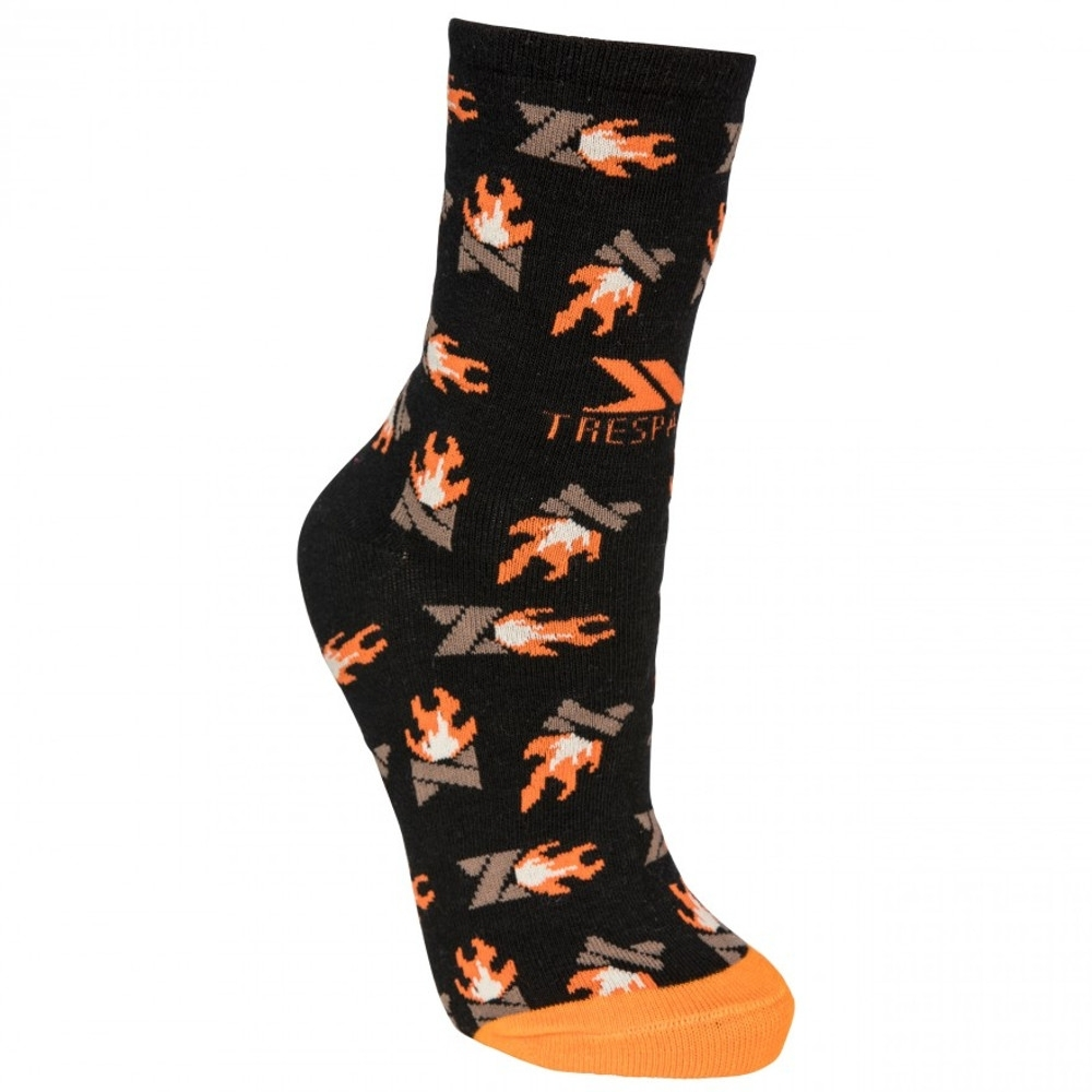 Trespass Womens Flame Novelty Mid Length Walking Socks Uk Size 3-9