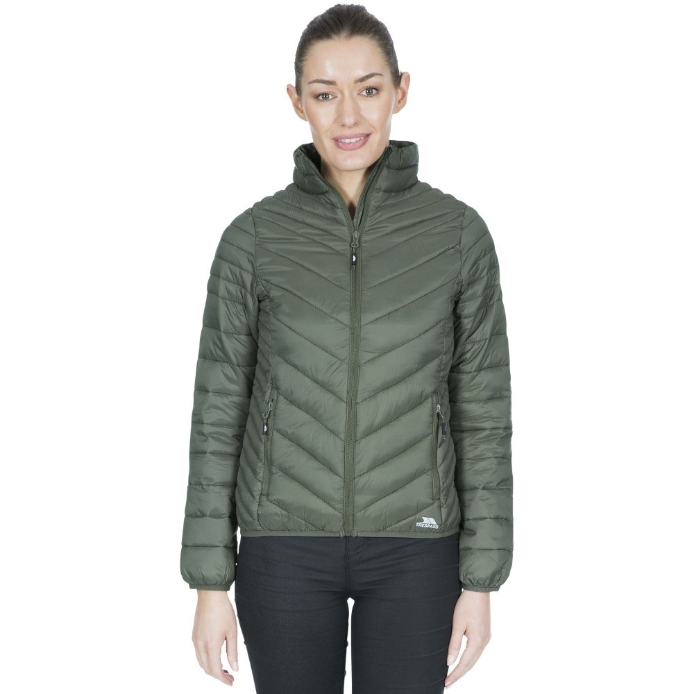 Trespass Womens Simara Padded Down Touch Warm Quilted Coat S- Uk 10  Bust 34 (86cm)