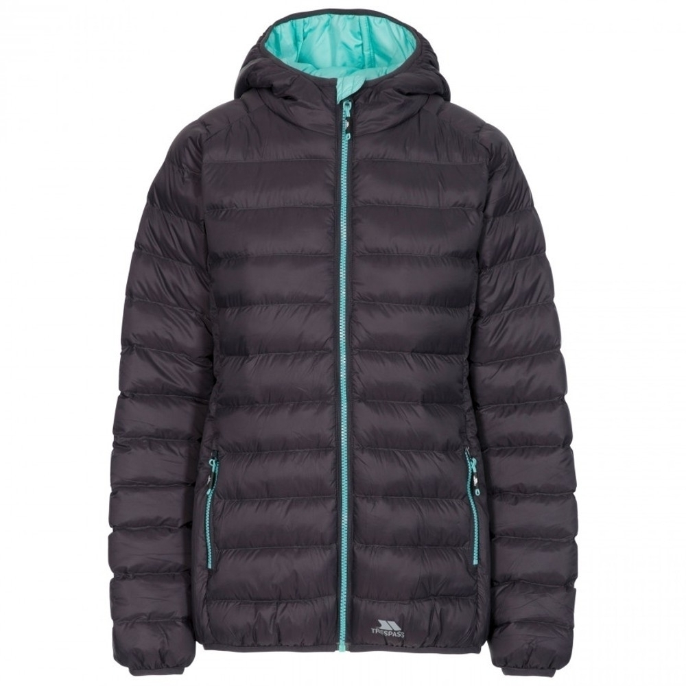 Trespass Womens Abigail Padded Hooded Warm Casual Coat Xs- Uk 8  Bust 32 (81cm)