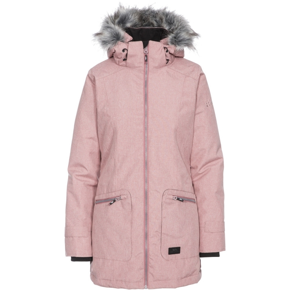 Trespass Womens Daybyday Tp50 Hooded Quilted Padded Coat S- Uk 10  Bust 34 (86cm)
