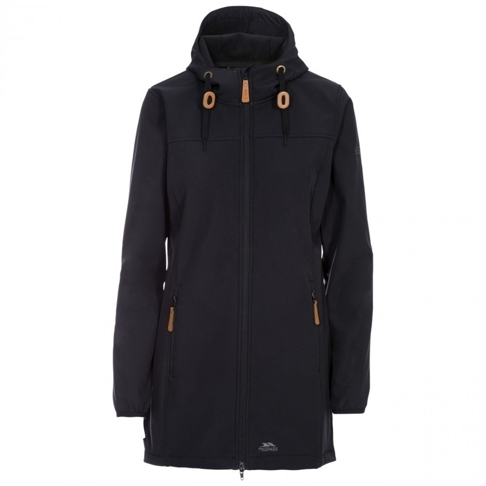 Trespass Womens Kristy Hooded Long Length Softshell Coat Xxs- Uk 6  Bust 31 (78cm)