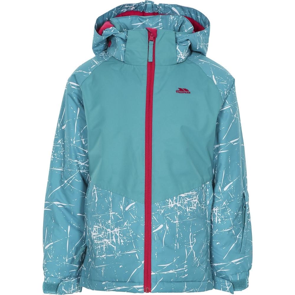 Trespass Girls Lottar Tp50 Padded Hooded Adjustable Ski Coat 7-8 Years- Chest 26 (66cm)