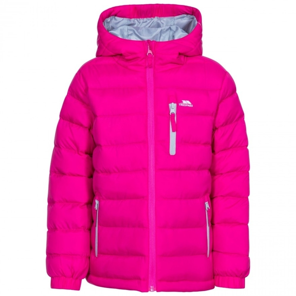 Trespass Girls Aksel Padded Quilted Hooded Casual Coat 2-3 Years- Chest 21 (53cm)