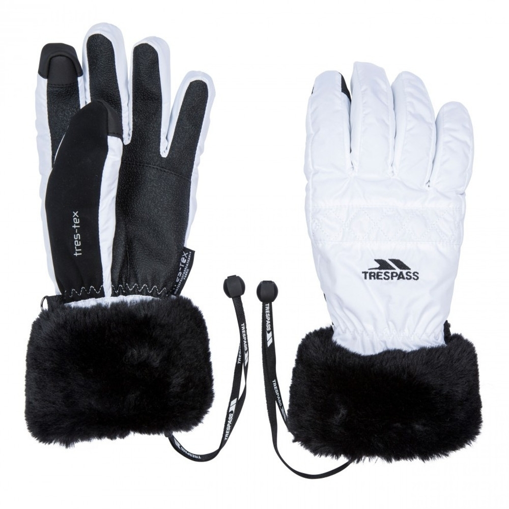 Trespass Womens Yanki Lightly Padded Winter Warm Gloves Small
