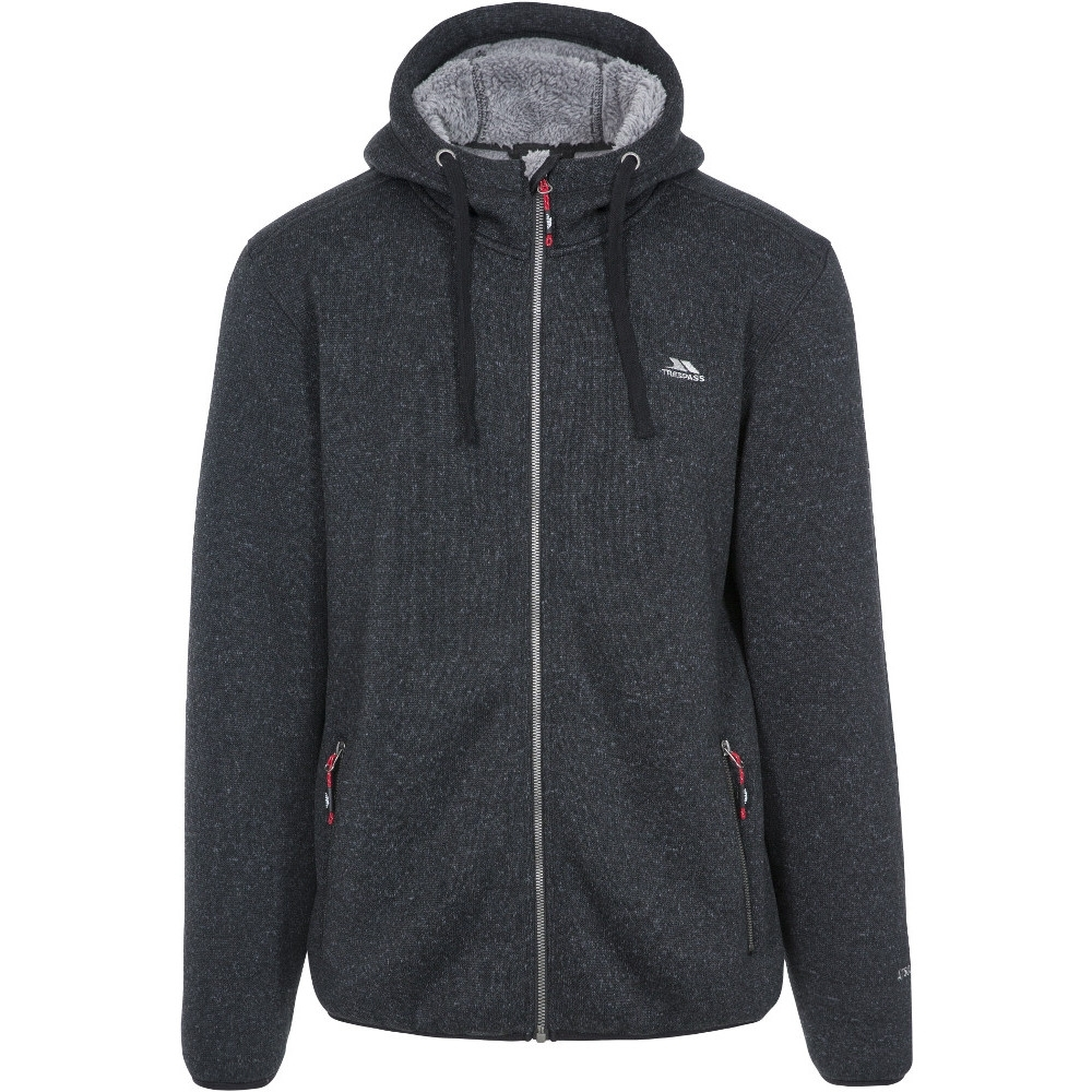 Trespass Mens Tableypipe At500 Airtrap Hooded Fleece Jacket L- Chest 41-43 (104 - 109cm)