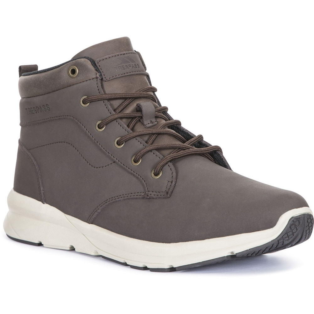 Trespass Mens Carlan Light Mid Cut Leather Walking Boots UK