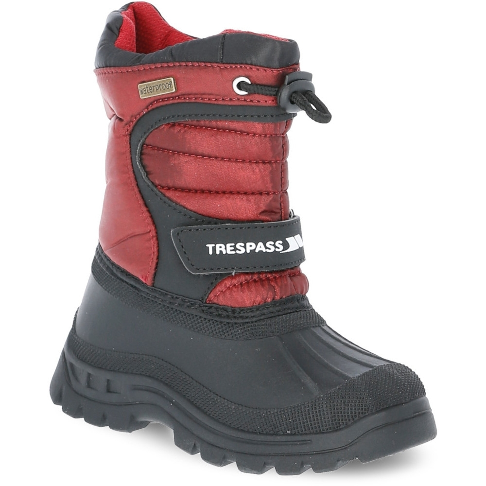 Trespass Boys Kukun Waterproof Warm Winter Snow Boot Uk Size 2 (eu 34)