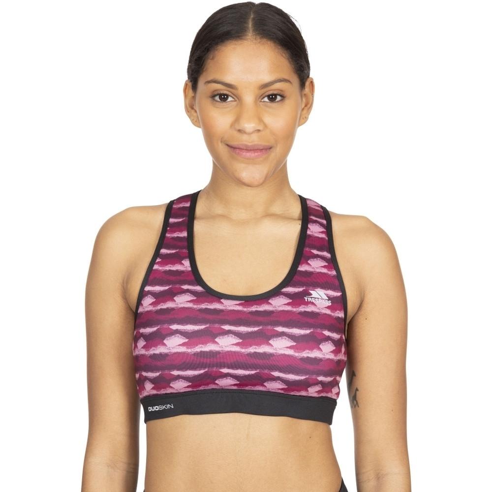 Trespass Womens Esme Reflective Sports Crop Top Sports Bra 8/xs - Waist 25 (66cm)