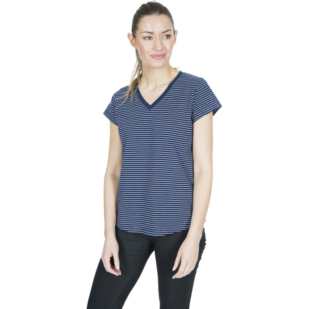 Trespass Womens Konnie V Neck Short Sleeve T Shirt 6/xxs - Bust 31 (78cm)