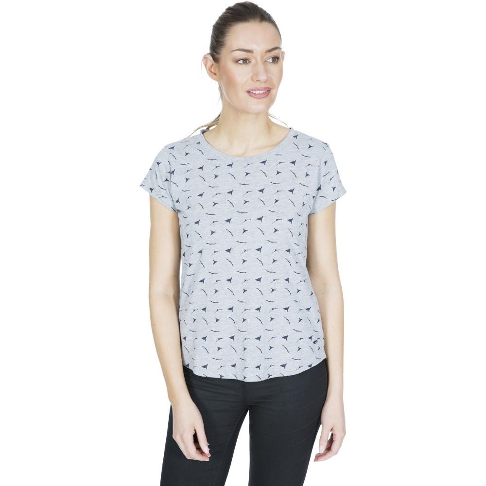 Trespass Womens Carolyn Printed Round Neck T Shirt 6/xxs - Bust 31 (78cm)
