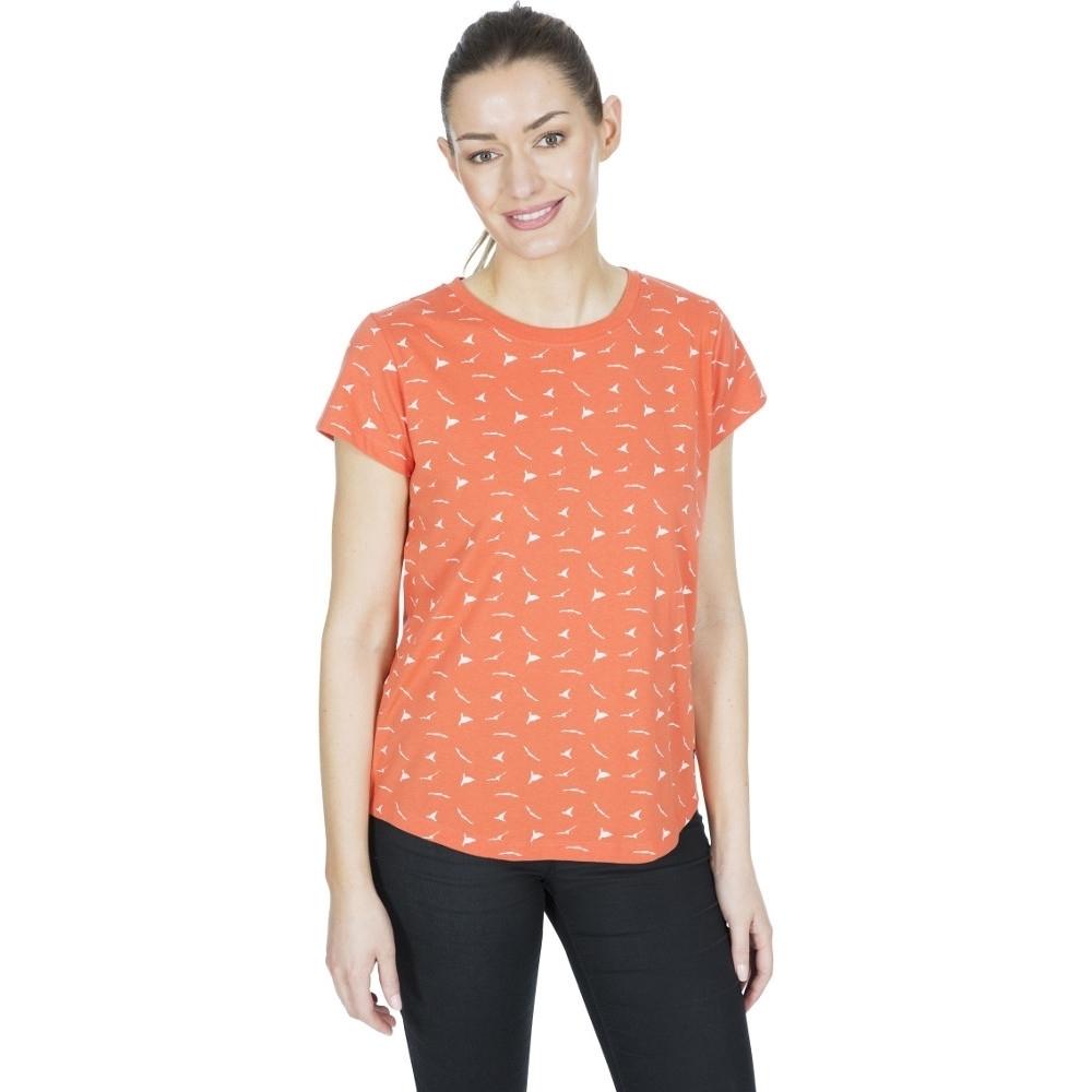 Trespass Womens Carolyn Printed Round Neck T Shirt 8/xs - Bust 32 (81cm)