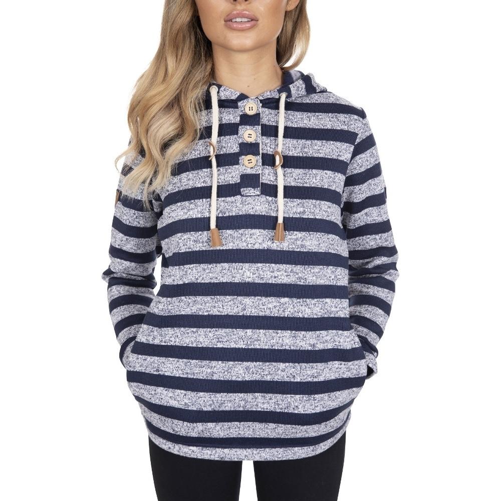 Trespass Womens Society Stripped Knitted Fleece Hoodie 6/xxs - Bust 31 (78cm)