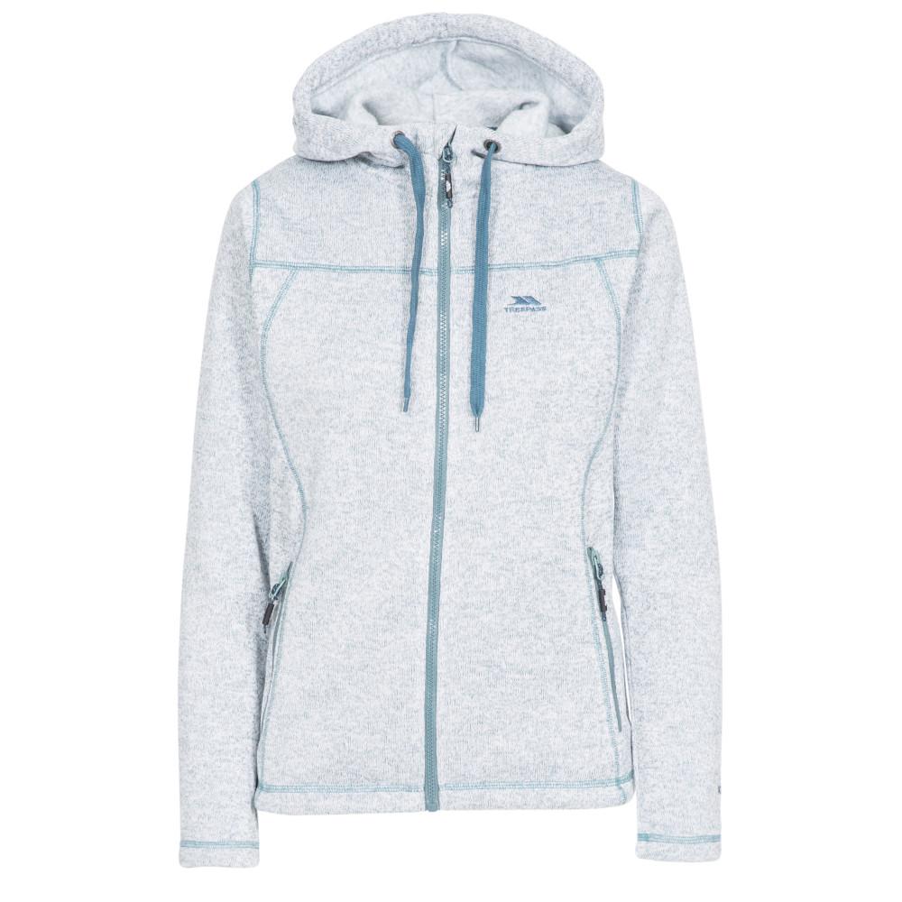 Trespass Womens Odelia Full Zip Knitted Fleece Hoodie 6/xxs - Bust 31 (78cm)