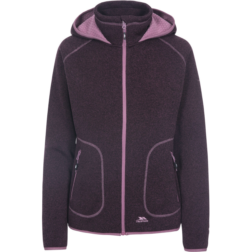 Trespass Womens Splendor Full Zip Casual Sweater Hoodie 10/s - Bust 34 (86cm)