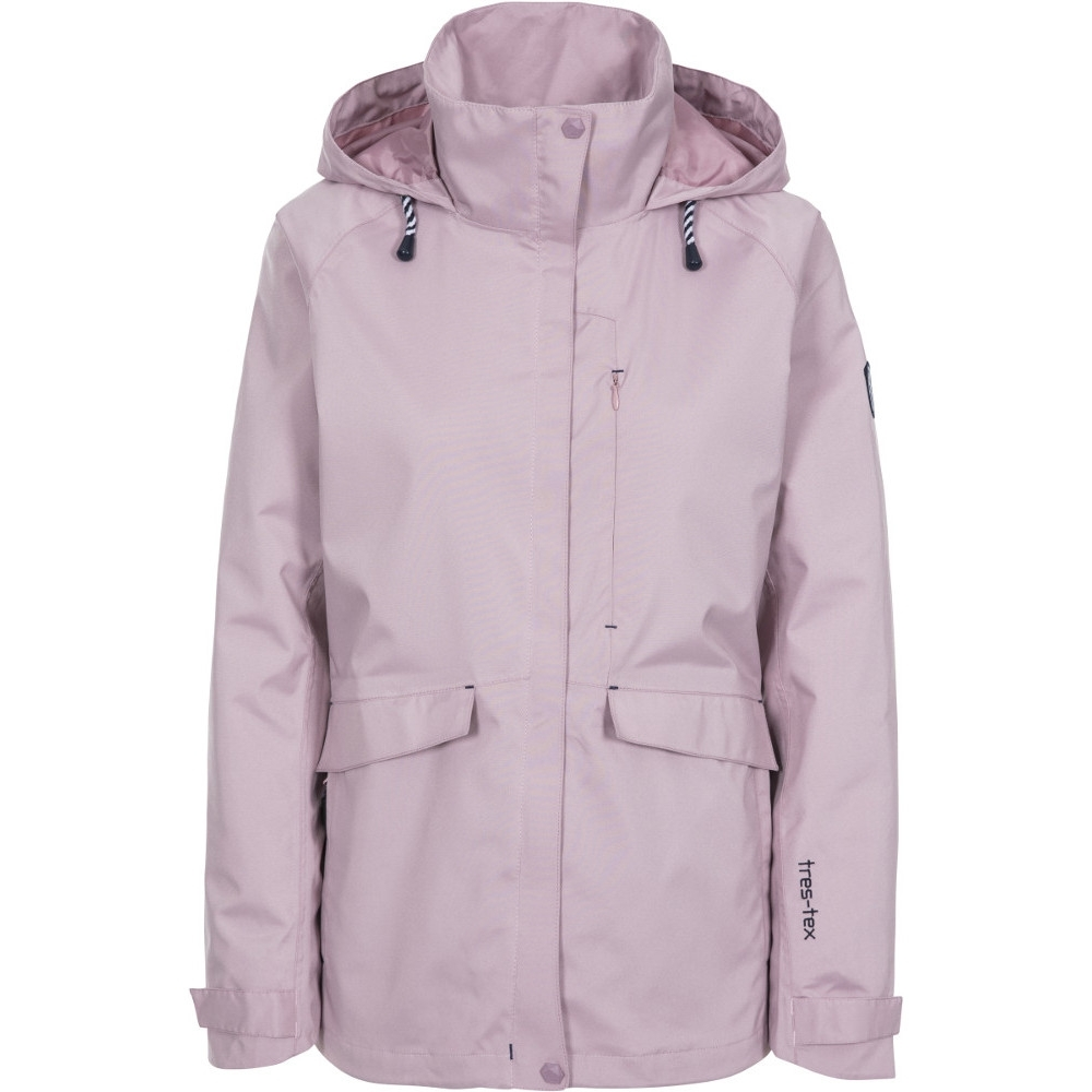 Trespass Womens Voyage Breathable Waterproof Coat 16/xl - Bust 40 (101.5cm)