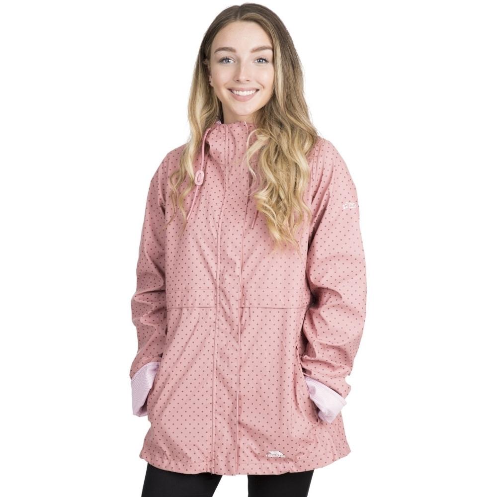 Trespass Womens Splosh Windproof Waterproof Hooded Rain Coat 10/s - Bust 34 (86cm)