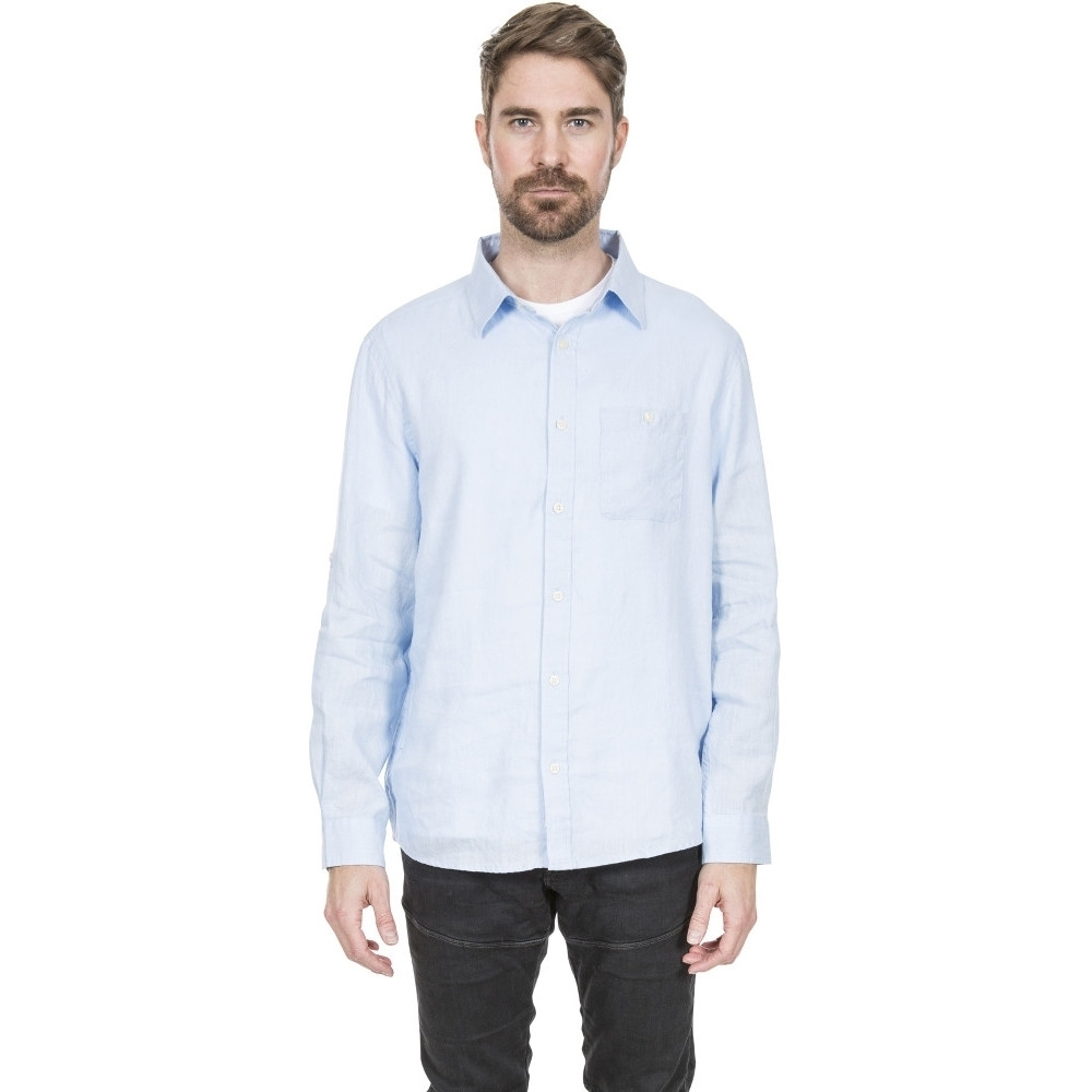 Trespass Mens Linley Breathable Casual Long Sleeve Shirt L - Chest 41-43 (104-109cm)