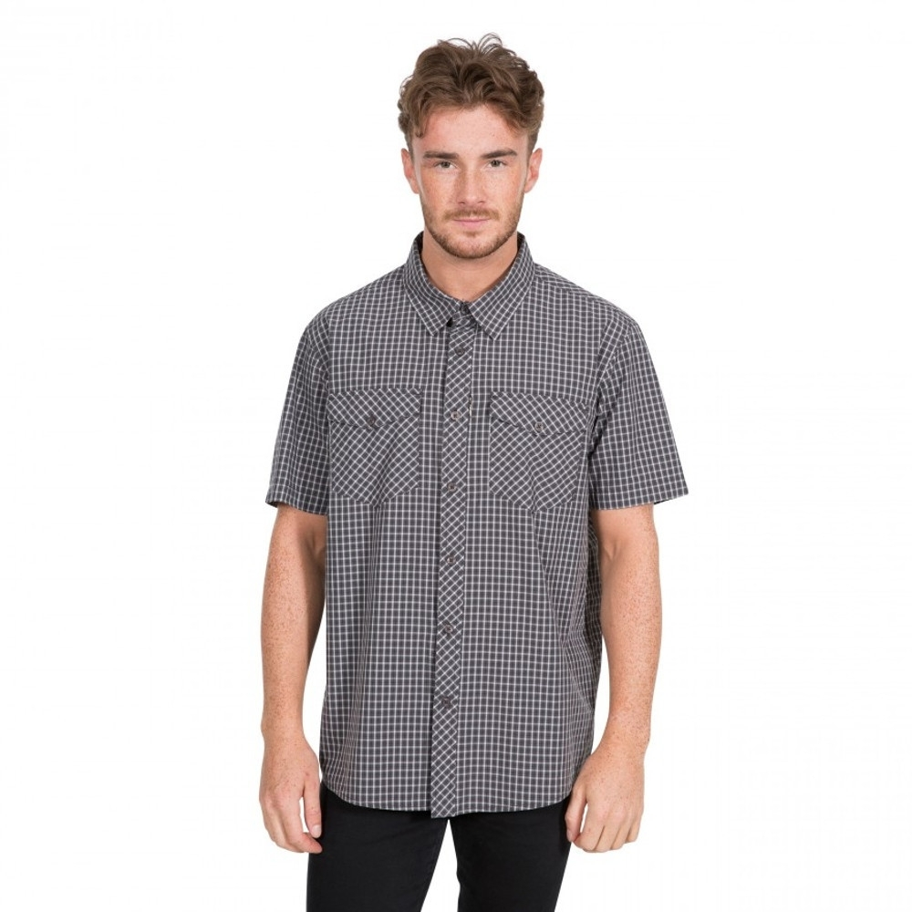 Trespass Mens Uttoxeter Breathable Short Sleeve Shirt Xxs - Chest 31-33 (79-84cm)
