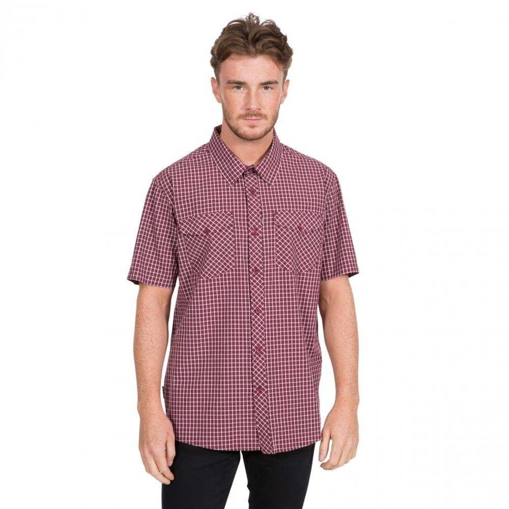 Trespass Mens Uttoxeter Breathable Short Sleeve Shirt S - Chest 35-37 (89-94cm)