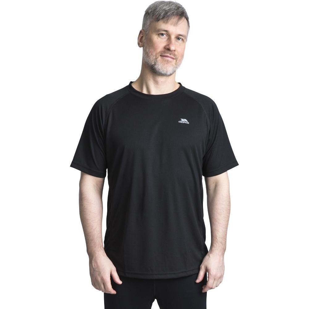 Trespass Mens Debase Quick Dry Wicking Round Neck T Shirt S - Chest 35-37 (89-94cm)