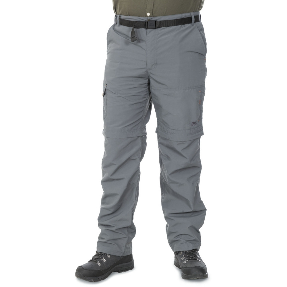 Trespass Mens Rynne Quick Dry Convertible Walking Trousers L - Waist 36-38 (91.5-96.5cm)