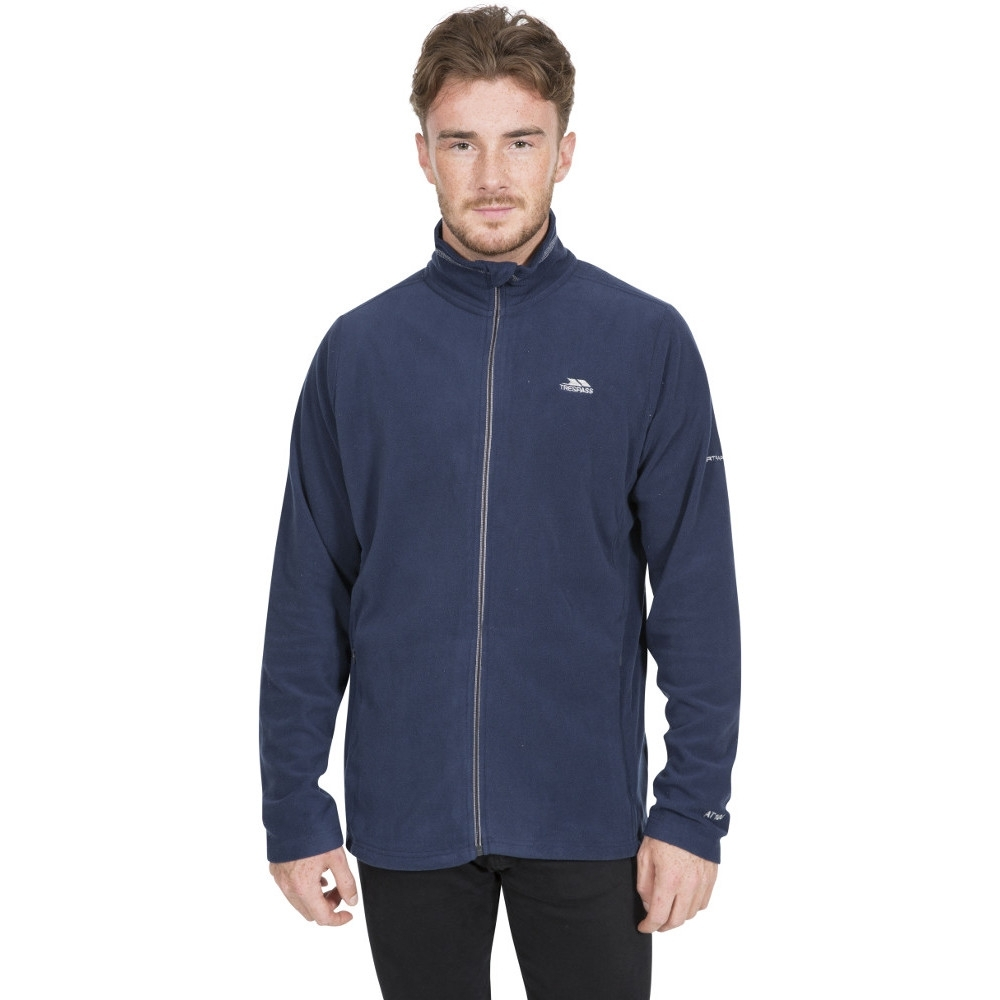 Trespass Mens Tadwick Full Zip Anti Piling Fleece Jacket Xxs - Chest 31-33 (79-84cm)