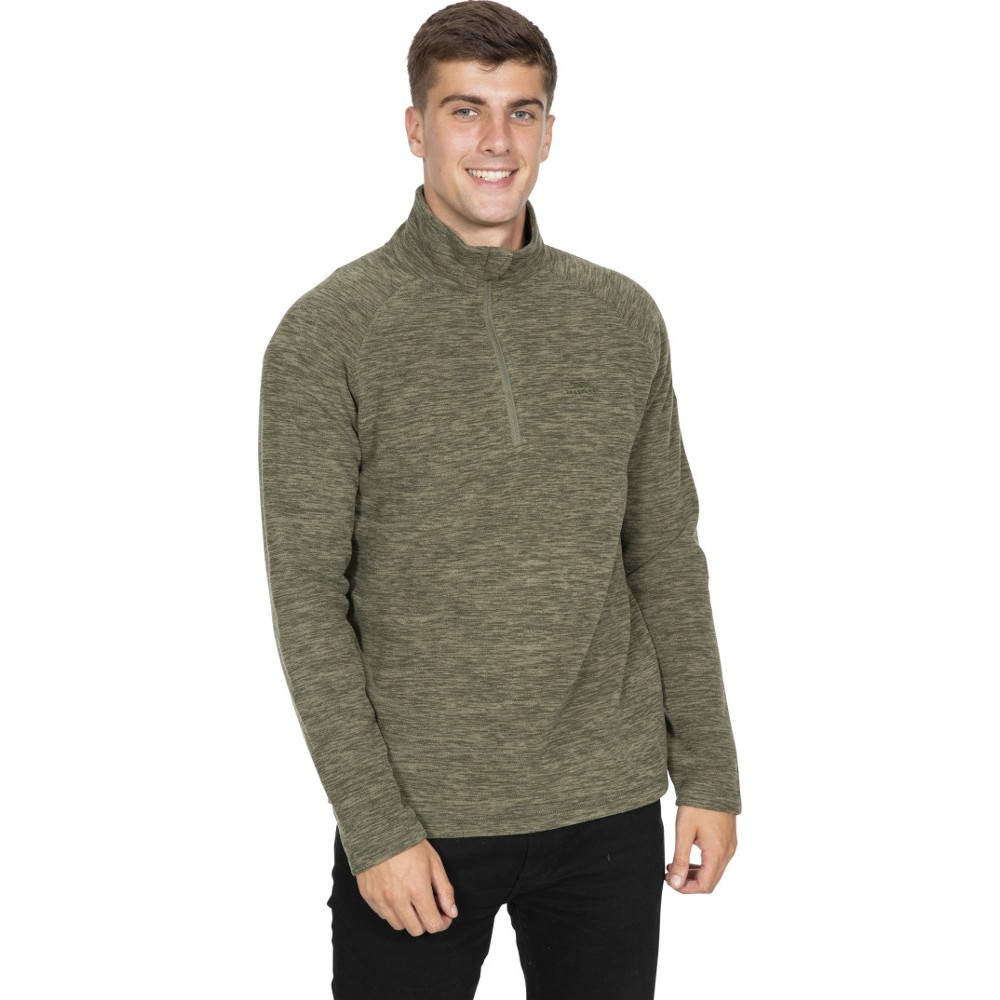 Trespass Mens Crucial Half Zip Fleece Jacket L - Chest 41-43 (104-109cm)