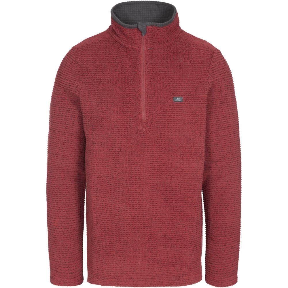Trespass Mens Nillsee Half Zip Textured Fleece Jacket Xxl - Chest 46-48 (117-122cm)