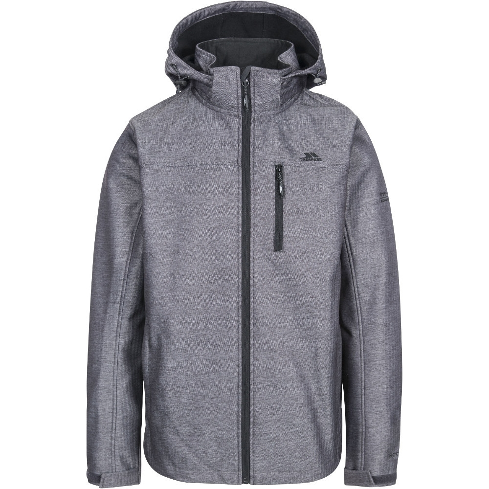 Trespass Mens Carter Breathable Waterproof Softshell Jacket L - Chest 41-43 (104-109cm)
