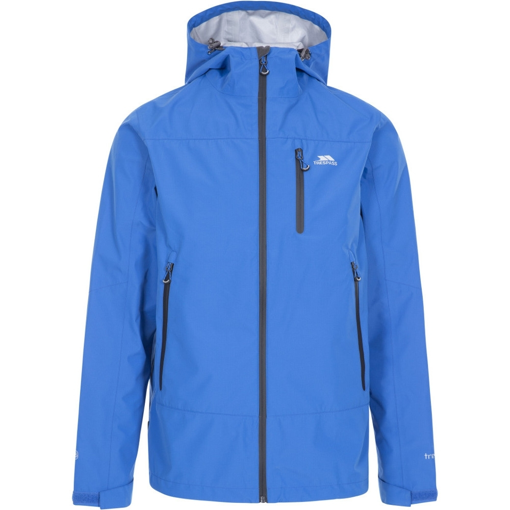 Trespass Mens Rakenfard Breathable Waterproof Hooded Jacket Xxl - Chest 46-48 (117-122cm)