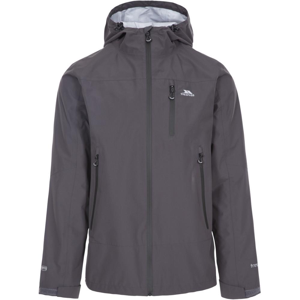 Trespass Mens Rakenfard Breathable Waterproof Hooded Jacket L - Chest 41-43 (104-109cm)