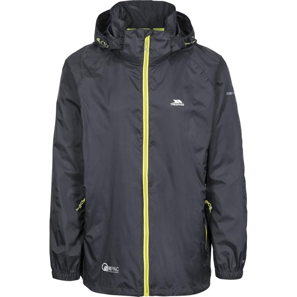 Trespass Mens Qikpac X Breathable Waterproof Packaway Jacket L - Chest 41-43 (104-109cm)