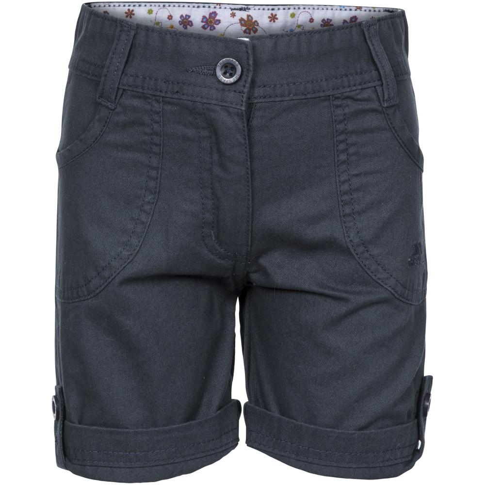 Trespass Girls Ronya Cotton Turn Up Shorts 9-10 - Waist 24 (waist 61cm)