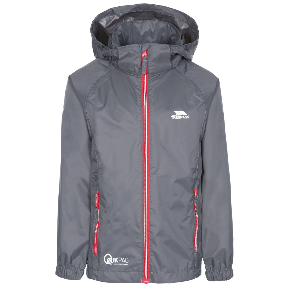 Trespass Boys Qikpac X Breathable Waterproof Packaway Jacket 9-10 - Chest 28 (chest 71cm)
