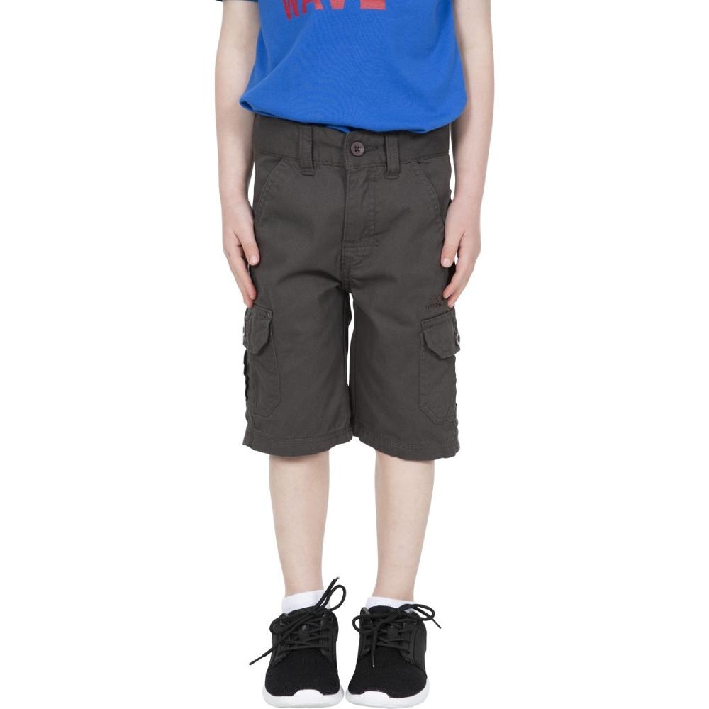 Trespass Boys Jarra Cotton Cargo Shorts 9-10 - Waist 24 (waist 61cm)