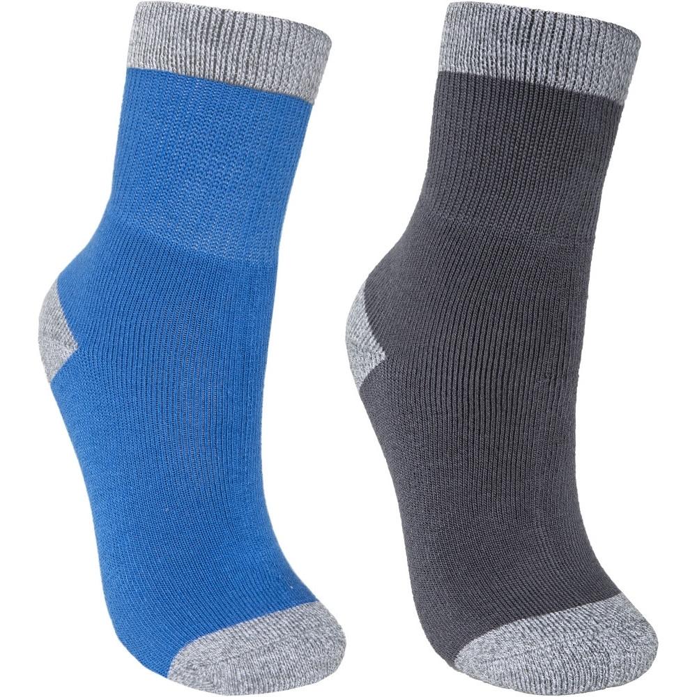 Trespass Boys Dipping Two Pair Marl Walking Socks Uk 12-3 (eu 31 - 35)