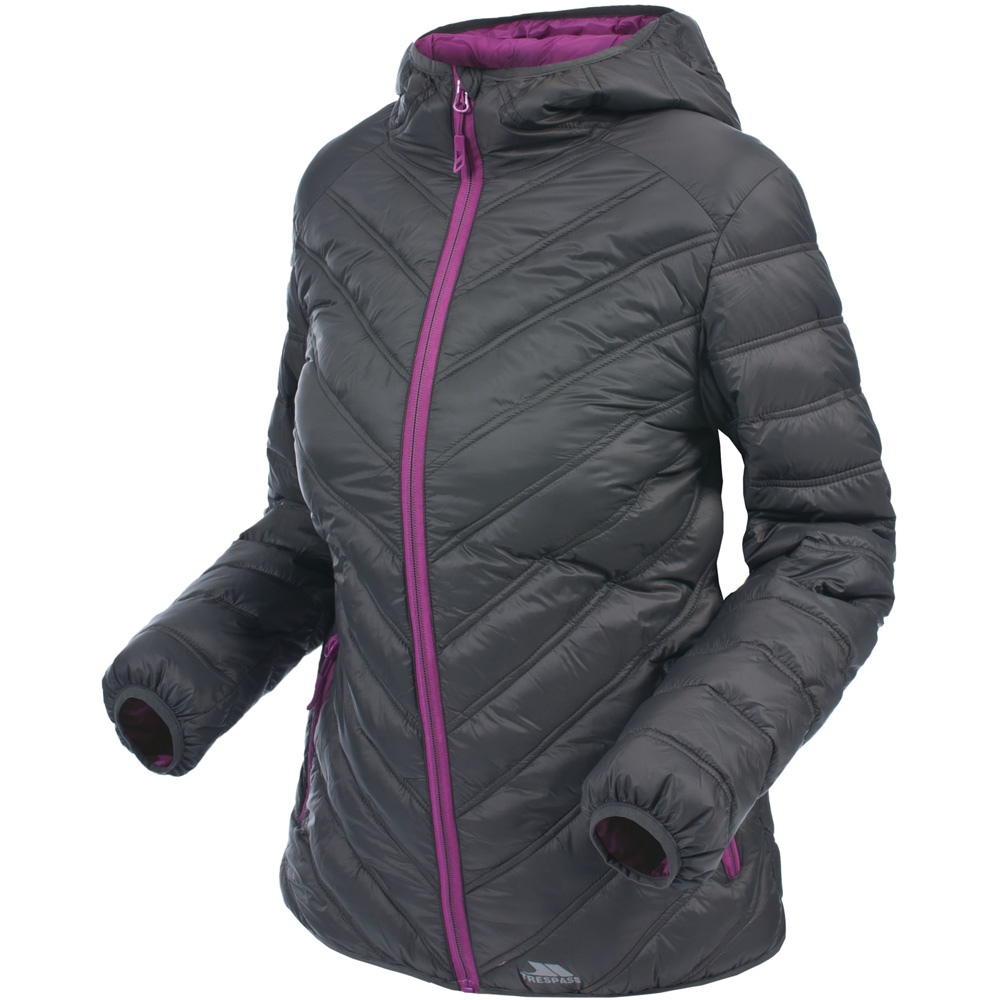 Trespass Ladies Release Polyamide Insulated Padded Jacket Black
