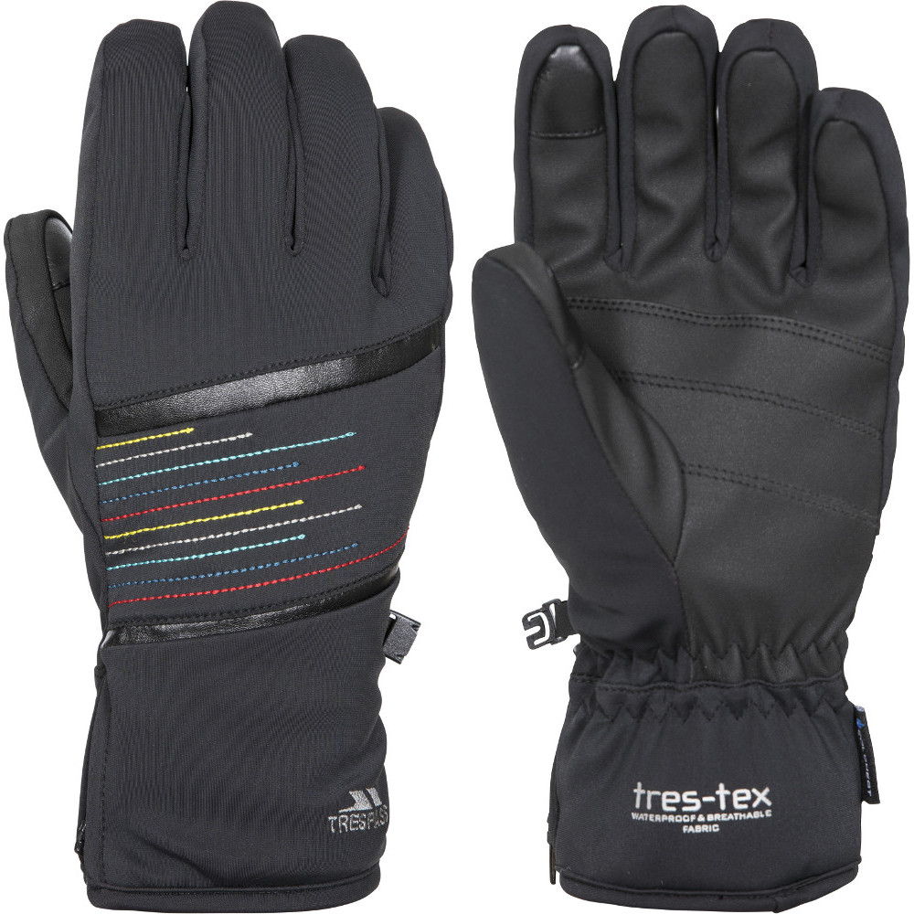 Trespass Womens Kay Lightly Padded Elasticated Ski Gloves Large