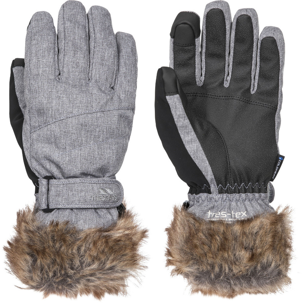 Trespass Womens Shiloh Lightly Padded Adjustable Ski Gloves Small