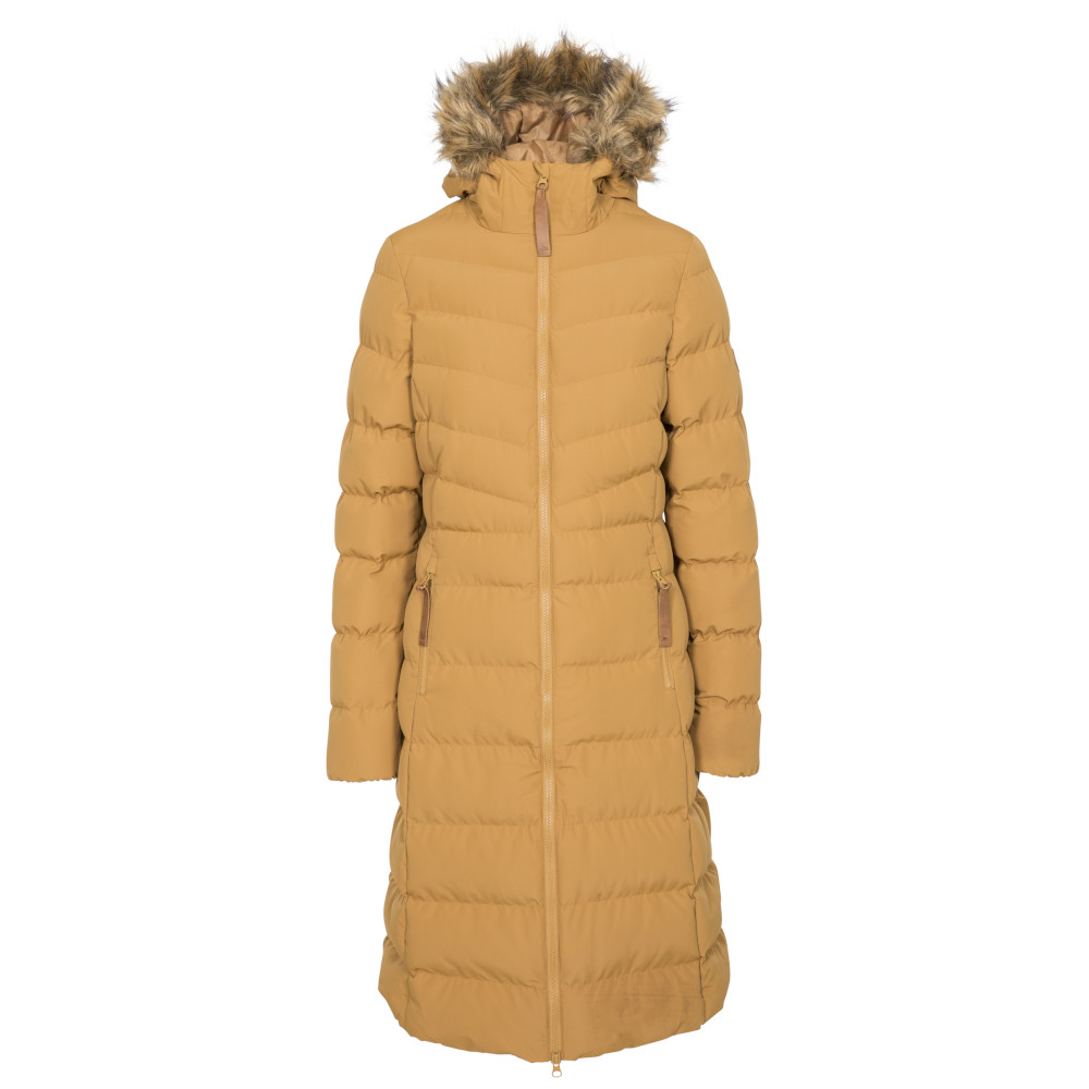 Trespass Womens Audrey Padded Longer Length Jacket Coat 8/xs - Bust 32 (81cm)