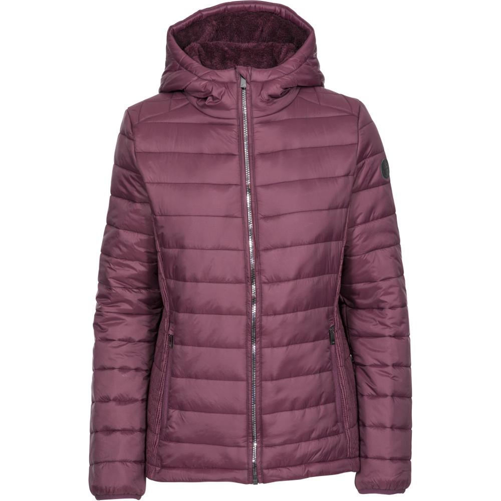Trespass Womens Valerie Padded Hooded Warm Jacket Coat 12/m - Bust 36 (91.4cm)