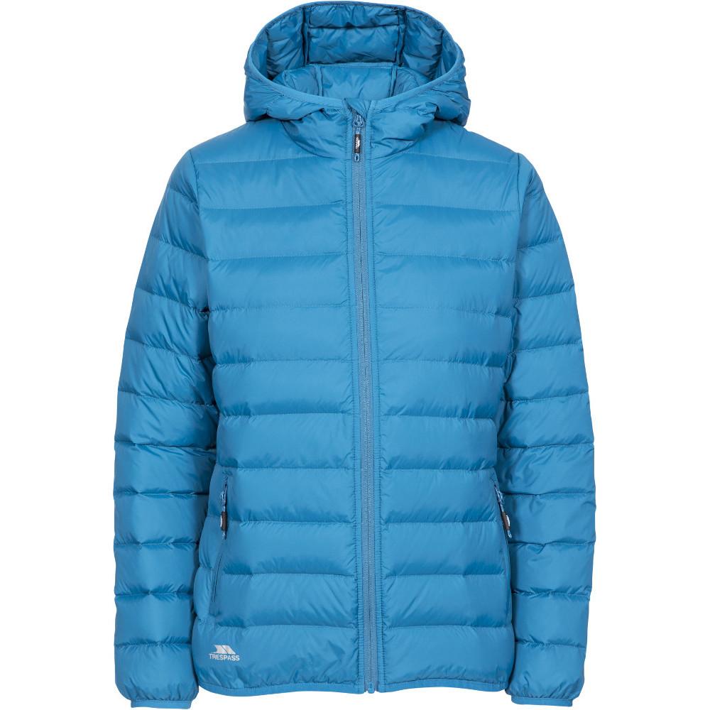 Trespass Womens Amma Ultra Lightweight Hooded Down Coat Xs- Uk 8- Bust 32  (81cm)